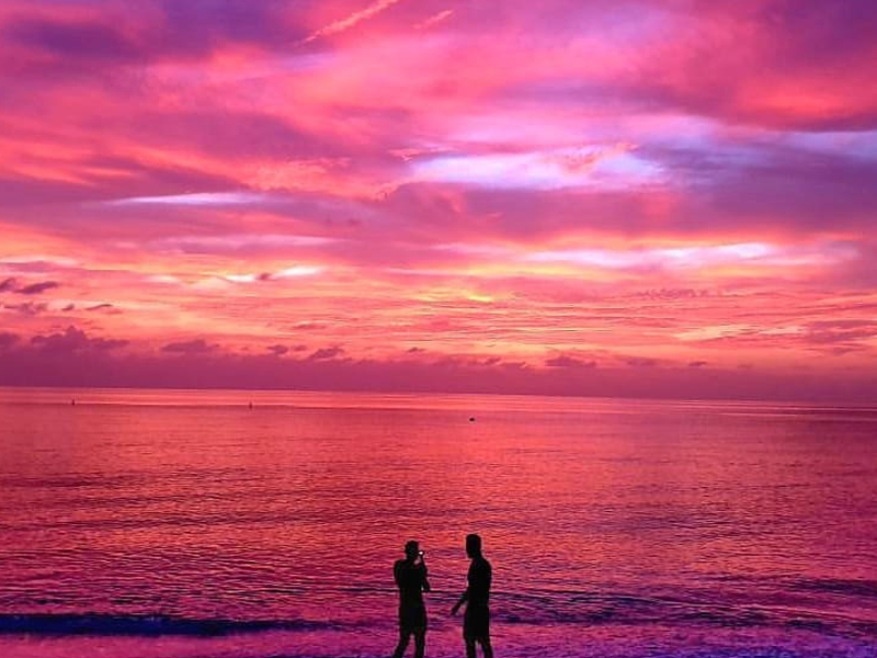 Coral Beach Gallery Sunset
